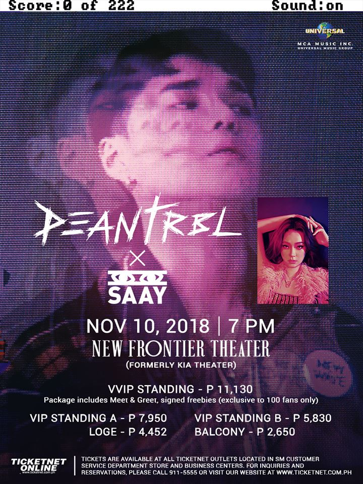 Exo Concert 2018 Philippines >> South Korean R&B Artists DEAN and SAAY are coming to Manila for a show on DEAN's birthday ...